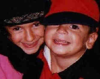 Jessica and Michael Lathrop in hats
